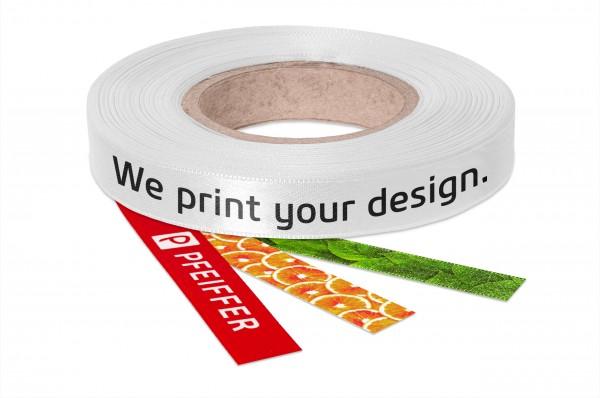 Silky shiny satin ribbon-individually printed