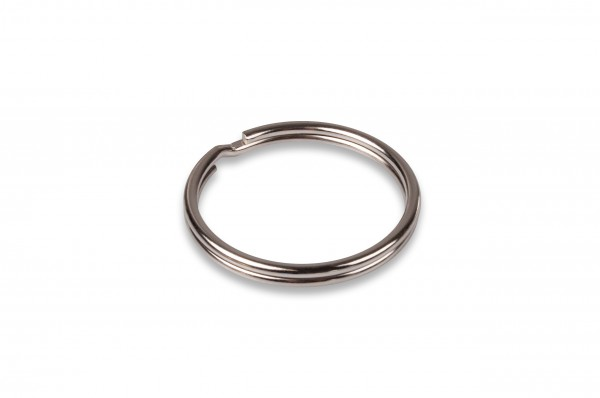 Key-Ring, steel, nickle plated, 26 mm