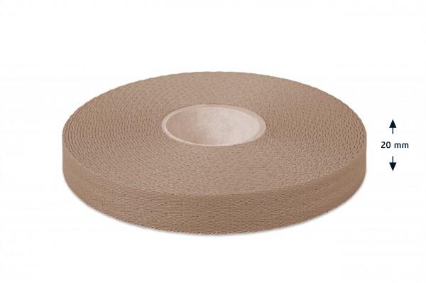 Econyl® narrow fabric, recycled, beige 203