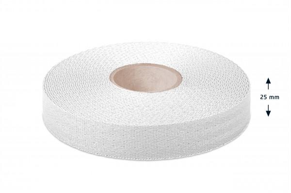 Econyl® narrow fabric, recycled, white 110