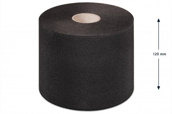 Wide elastic webbing, black, 120 mm