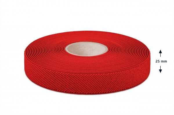 Elastic narrow fabric, red, 25 mm