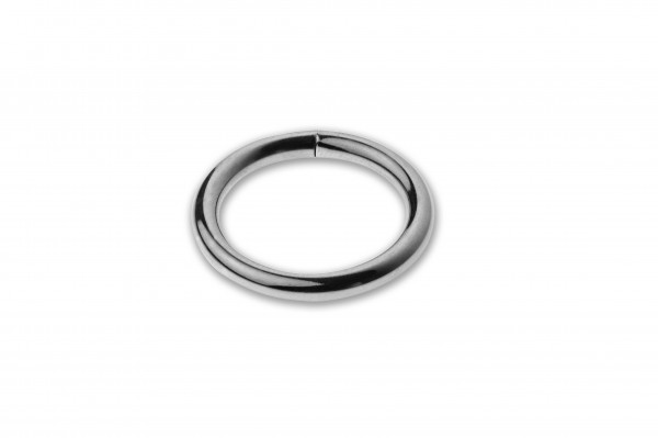 Ring, welded, chrome plated, silver, 20 x 3,5 mm
