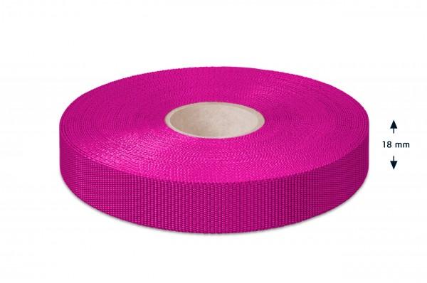 Non-elastic pp binding, pink,18 mm