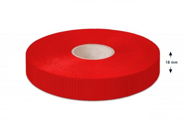 Non-elastic pp binding, red,18 mm