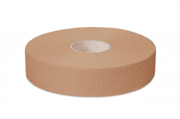 Thick cotton webbing, width 30 mm, col. beige
