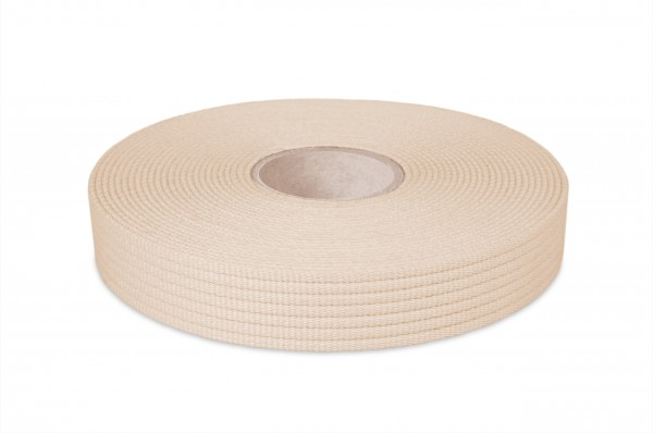 Cotton webbing, width 30 mm, col. nature