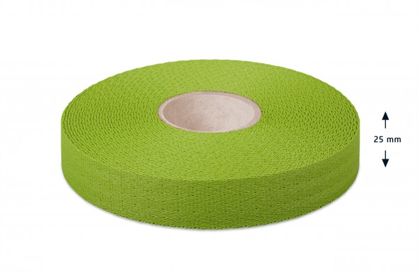 Econyl® narrow fabric, recycled, green 623