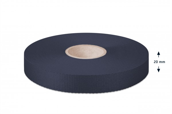 Gros grain ribbon, navy, 20 mm