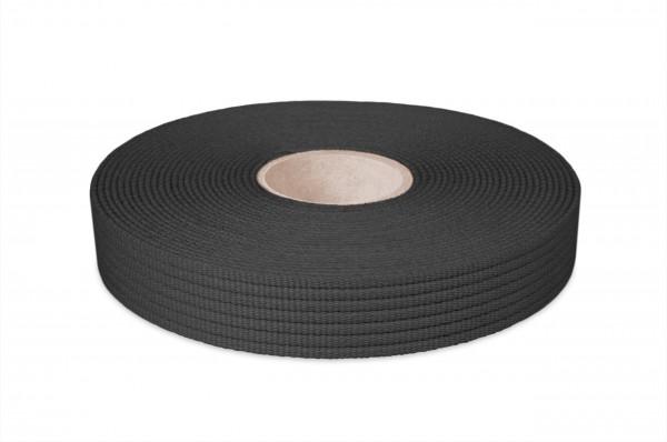 Cotton webbing, width 30 mm, col. black