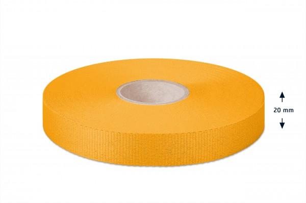 Gros grain ribbon, yellow, 20 mm