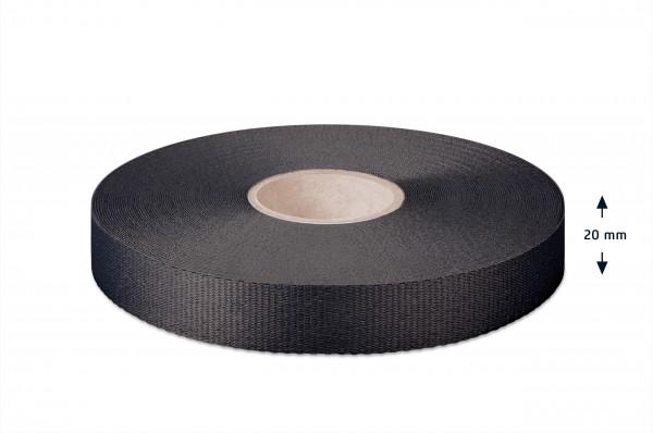 Gros grain ribbon, black, 20 mm