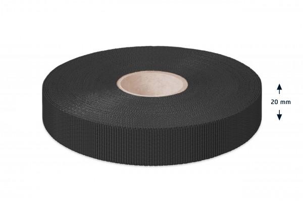 Econyl® binding recycled, black, 20 mm