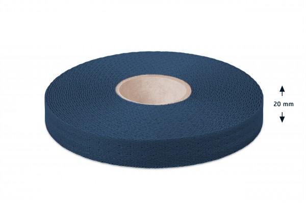 Econyl® narrow fabric, recycled, navy 523