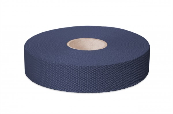 Thick cotton webbing, width 30 mm, col. navyblue