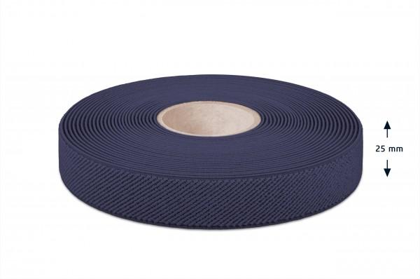 Elastic narrow fabric, navy, 25 mm