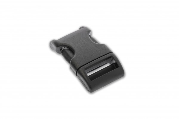 Curved side release buckle nylon