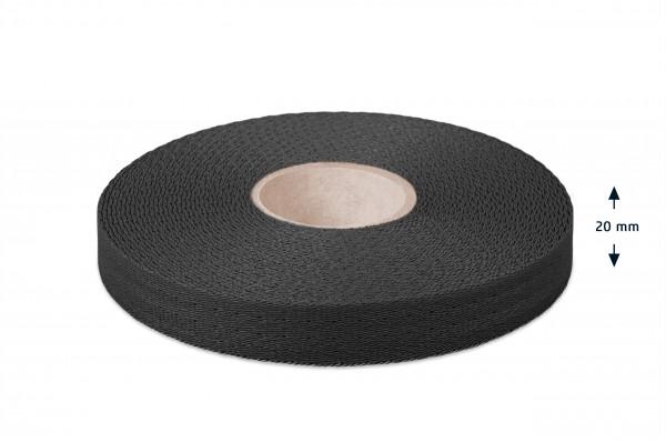 Econyl® narrow fabric, recycled, black