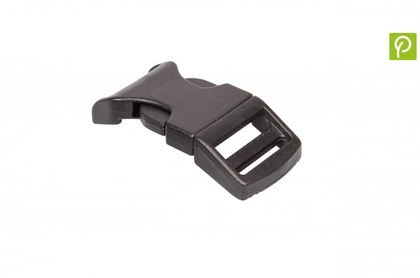 Curved Side release buckle made of recycled plastic 25 mm