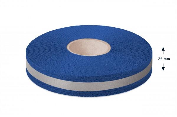 Econyl® webbing, recycled, reflective, royalblue 553, 25 mm