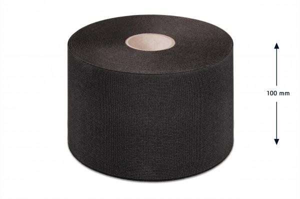 Wide elastic webbing, black, 100 mm