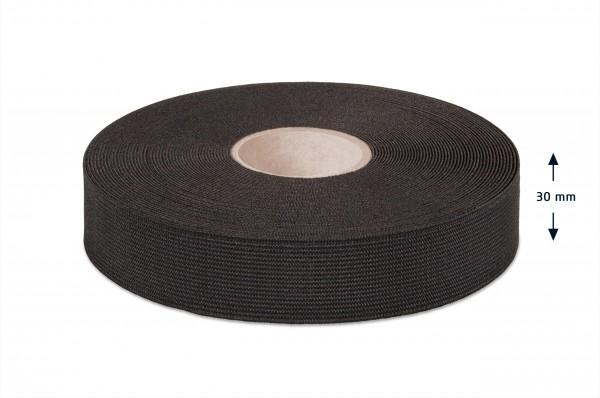 High quality elastic webbing, black, 30 mm