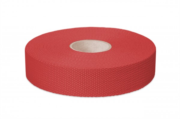 Thick cotton webbing, width 30 mm, col. red