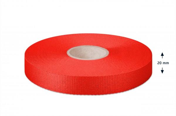 Gros grain ribbon, red, 20 mm