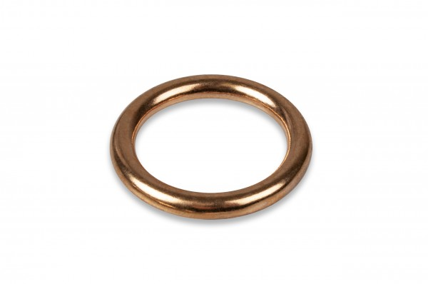 Ring, solid brass, brass colour 12 x 2.7 mm