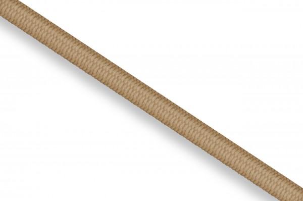 Rubber cord, 3 mm, beige