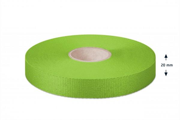 Gros grain ribbon, green, 20 mm