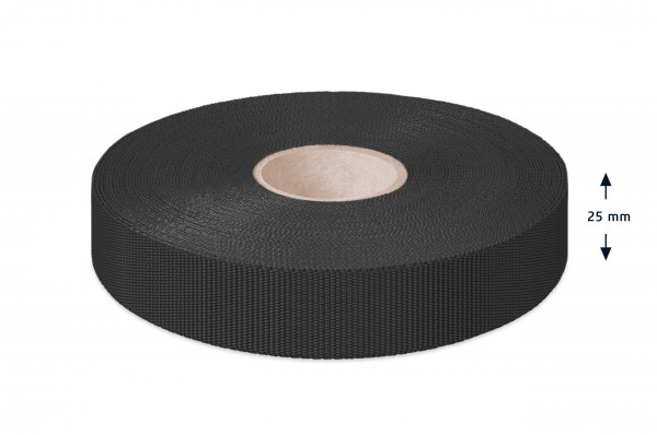 Econyl® binding recycled, black, 25 mm