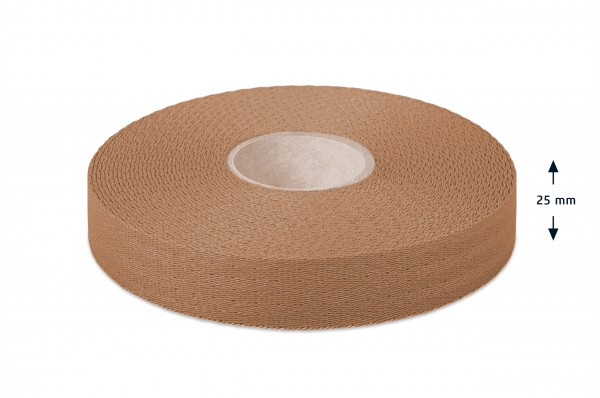 Econyl® narrow fabric, recycled, beige 106