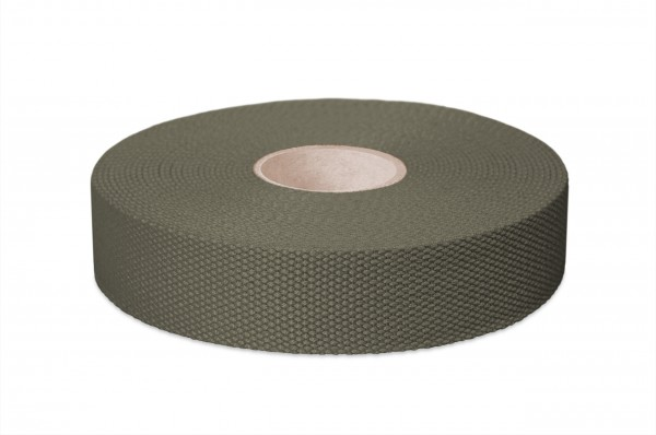 Thick cotton webbing, width 30 mm, col. olive