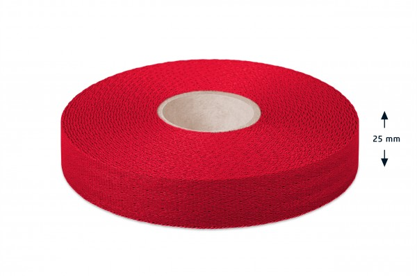 Econyl® narrow fabric, recycled, red 421