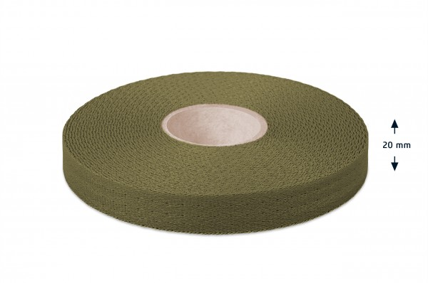 Econyl® narrow fabric, recycled, olive 632