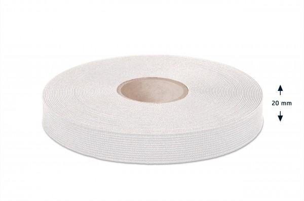 High quality elastic webbing, off-white, 20 mm