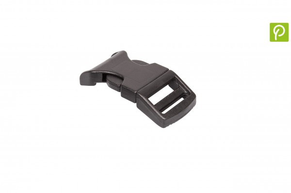 Curved Side release buckle made of recycled plastic 20 mm
