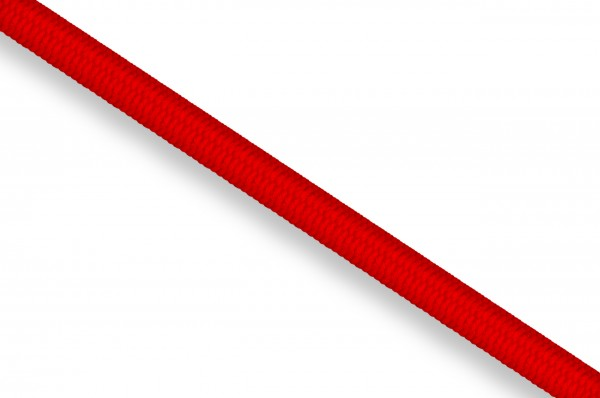 Rubber cord, 3 mm, red 8055