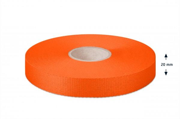 Gros grain ribbon, orange, 20 mm