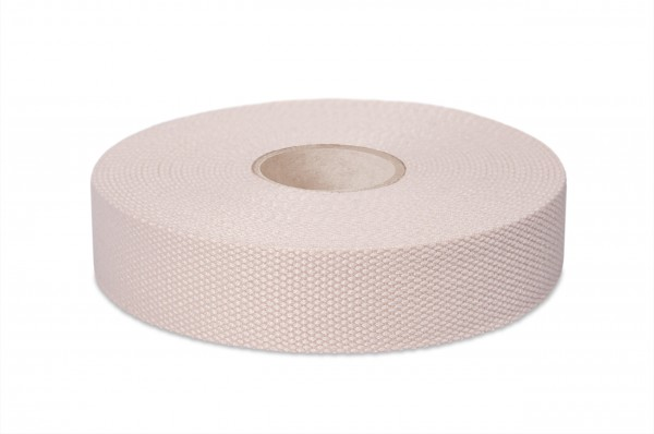 Thick cotton webbing, width 30 mm, col. nature