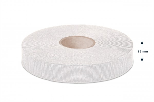 Sustainable elastic made of recycled plastic bottles, off-white, 25 mm